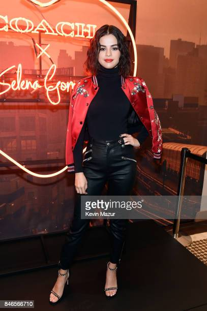 Selena Gomez poses during the Coach InStore Event with Selena Gomez at Coach Boutique on September 13 2017 in New York City