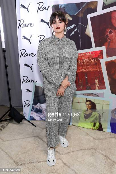 Selena Gomez poses during the Meet Greet with Selena Gomez at PUMA Flagship on January 14 2020 in New York City