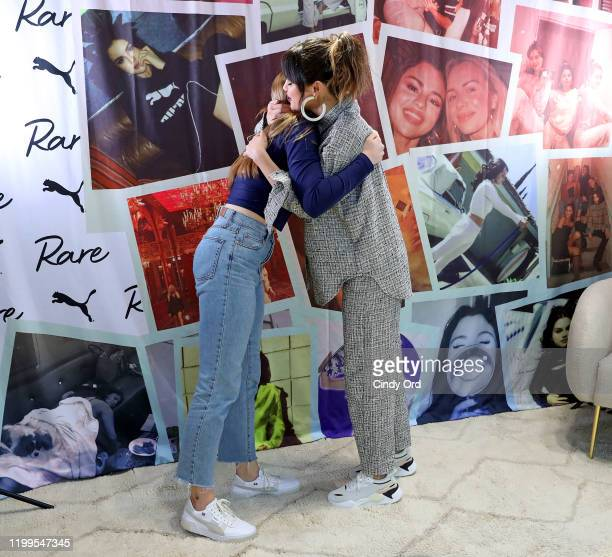 Selena Gomez poses with fans during the Meet Greet with Selena Gomez at PUMA Flagship on January 14 2020 in New York City