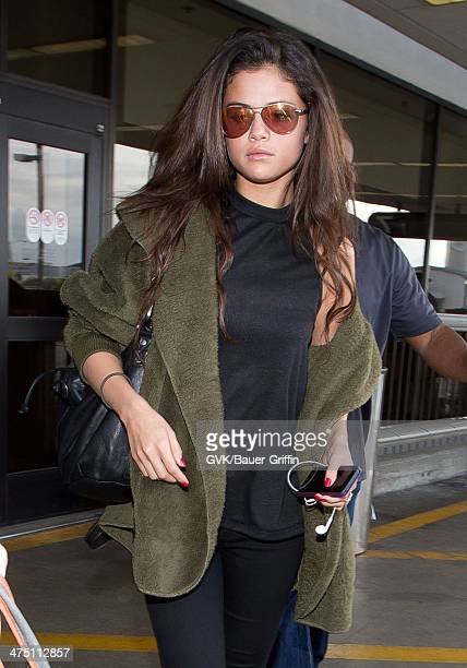 Selena Gomez seen at LAX airport on February 26 2014 in Los Angeles California