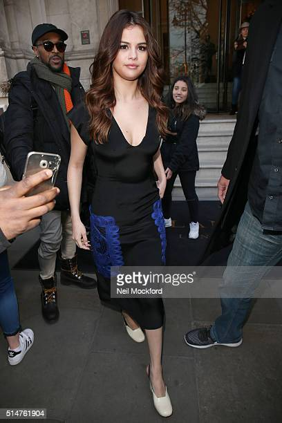 Selena Gomez seen at The Langham Hotel on March 11 2016 in London England