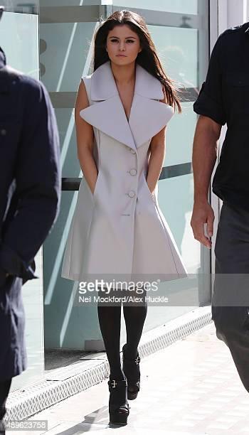 Selena Gomez seen leaving a studio on September 23 2015 in London England