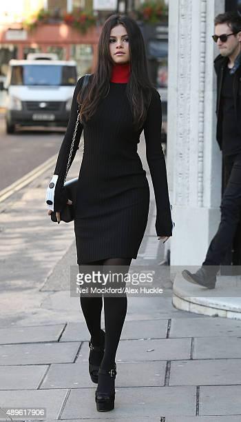Selena Gomez seen leaving KISS FM on September 23 2015 in London England