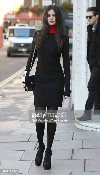 Selena Gomez seen leaving KISS FM on September 23 2015 in London England