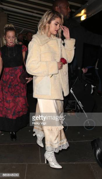 Selena Gomez seen leaving The Fashion Awards 2017 held at Royal Albert Hall on December 4 2017 in London England