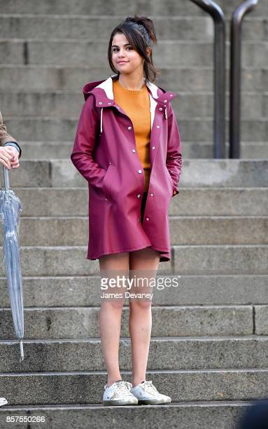 Selena Gomez seen on location for Woody Allen's untitled movie at the Metropolitan Museum of Art on October 4 2017 in New York City