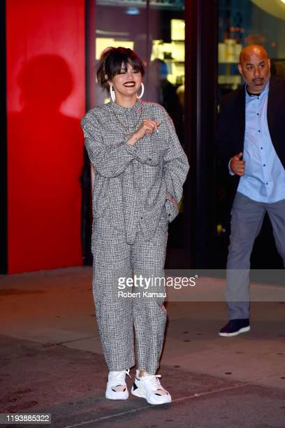 Selena Gomez seen out and about in Manhattan on January 14 2020 in New York City