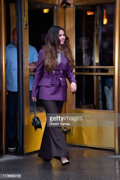 Selena Gomez seen out and bout in Manhattan on October 29 2019 in New York City