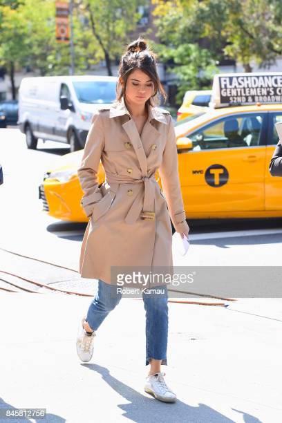 Selena Gomez seen out walking in Manhattan on September 11 2017 in New York City