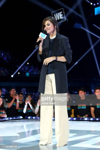 Selena Gomez speaks onstage at WE Day California at The Forum on April 25 2019 in Inglewood California
