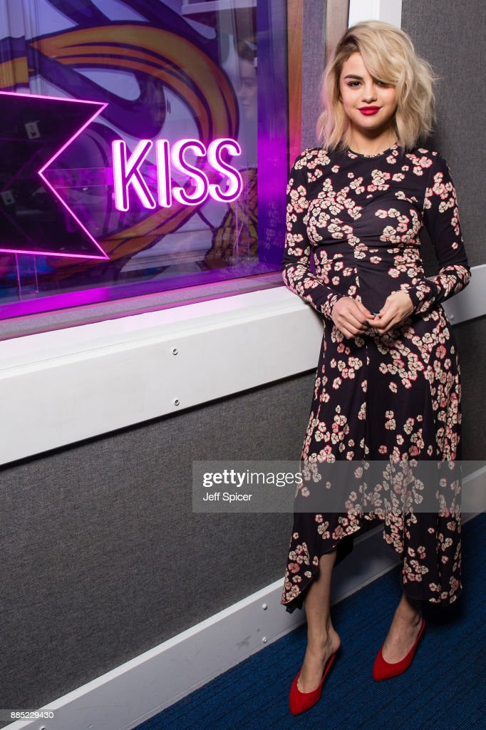Selena Gomez visits Kiss FM Studio's on December 4, 2017 in London, England.