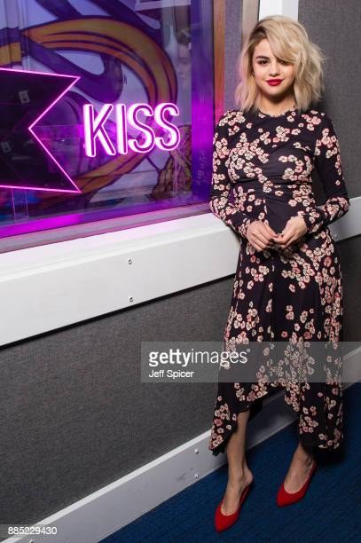 Selena Gomez visits Kiss FM Studio's on December 4 2017 in London England