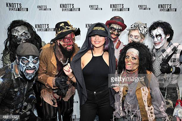 Selena Gomez visits Knott's Scary Farm at Knott's Berry Farm on October 17 2015 in Buena Park California
