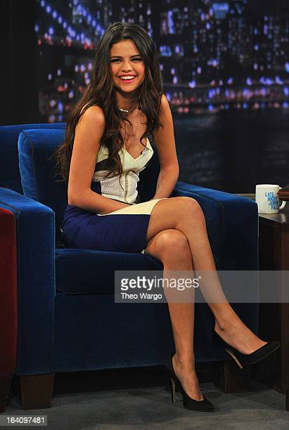 Selena Gomez visits 'Late Night With Jimmy Fallon' at Rockefeller Center on March 19 2013 in New York City