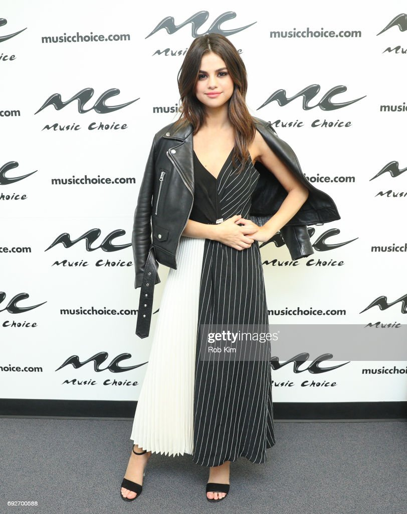 Selena Gomez visits Music Choice on June 5, 2017 in New York City.