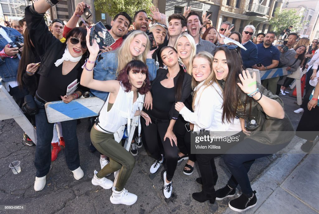 Selena Gomez visits PUMA Defy City to celebrate launch of PUMA Defy at Paramount Studios on May 16, 2018 in Los Angeles, California.