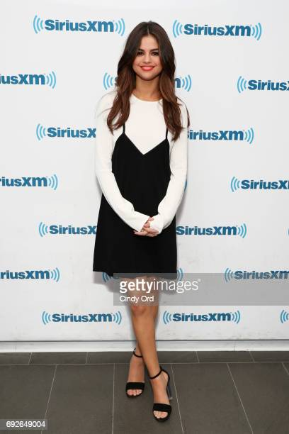 Selena Gomez visits 'The Morning Mash Up' for a special 'Celebrity Session' on SiriusXM Hits 1 Channel at SiriusXM Studios on June 5 2017 in New York...