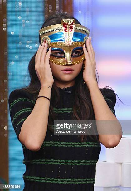 Selena Gomez visits the set of 'Despierta America' to promote the film 'Hotel Transylvania 2' at Univision Studios on September 18 2015 in Miami...