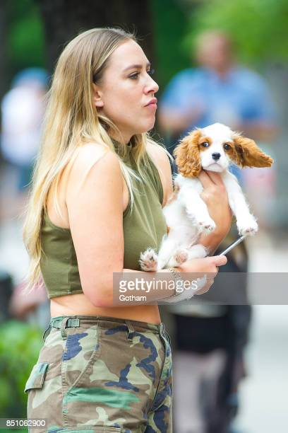 Selena Gomez's Cavalier King Charles puppy is seen in the West Village on September 21 2017 in New York City