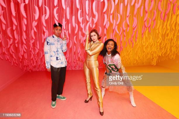 Selena Norman and guests attend Museum of Ice Cream SoHo Flagship Opening Party on December 12 2019 in New York City