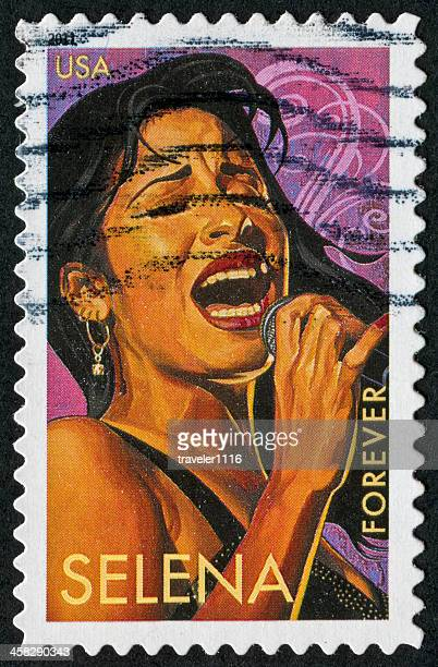 selena stamp - selena singer stock pictures, royalty-free photos & images