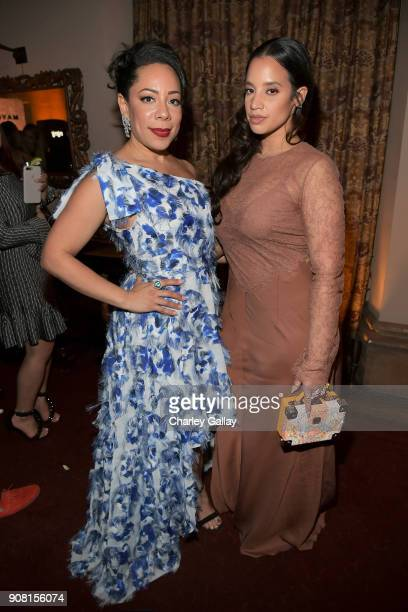 Selenis Leyva and Dascha Polanco attend Entertainment Weekly's Screen Actors Guild Award Nominees Celebration sponsored by Maybelline New York at...