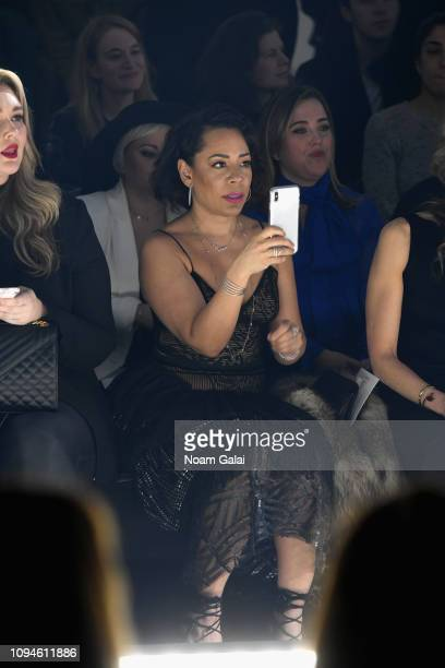Selenis Leyva attends the 11 Honore front row during New York Fashion Week The Shows at Gallery I at Spring Studios on February 6 2019 in New York...
