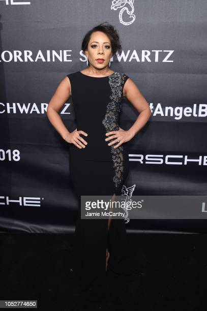 Selenis Leyva attends the 2018 Angel Ball hosted by Gabrielle's Angel Foundation at Cipriani Wall Street on October 22 2018 in New York City