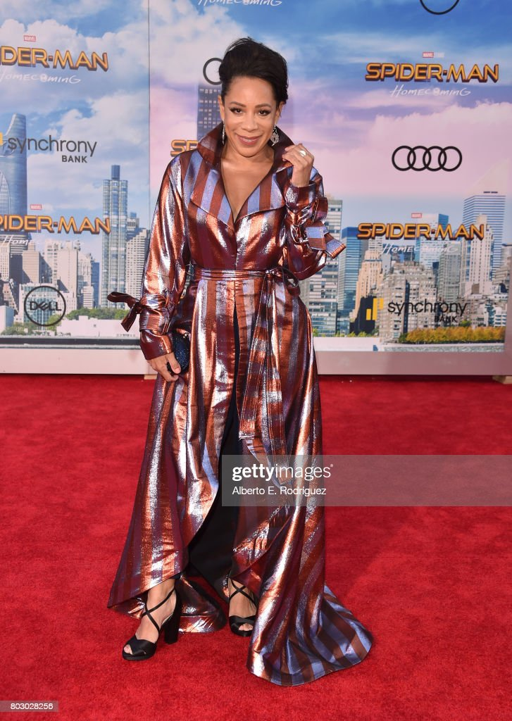 Selenis Leyva attends the premiere of Columbia Pictures' 'Spider-Man: Homecoming' at TCL Chinese Theatre on June 28, 2017 in Hollywood, California.