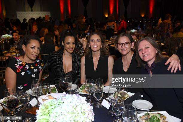 Selenis Leyva Dascha Polanco Diane Lane Annie Imhof and Cindy Holland attend the 2018 Women's Media Awards at Capitale on November 1 2018 in New York...