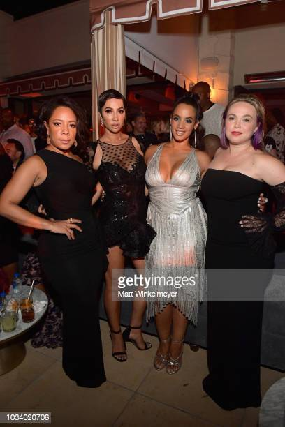 Selenis Leyva Jackie Cruz Dascha Polanco and Amanda Fuller attend the 2018 PreEmmy Party hosted by Entertainment Weekly and L'Oreal Paris at Sunset...