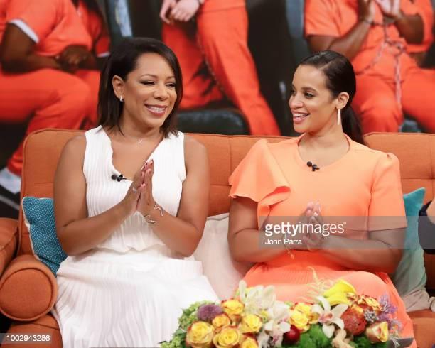 Selenis Leyva Satcha Pretto and Dascha Polanco visit 'Despierta America' to promote 'Orange Is the New Black' Season 6 at Univision Studios on July...