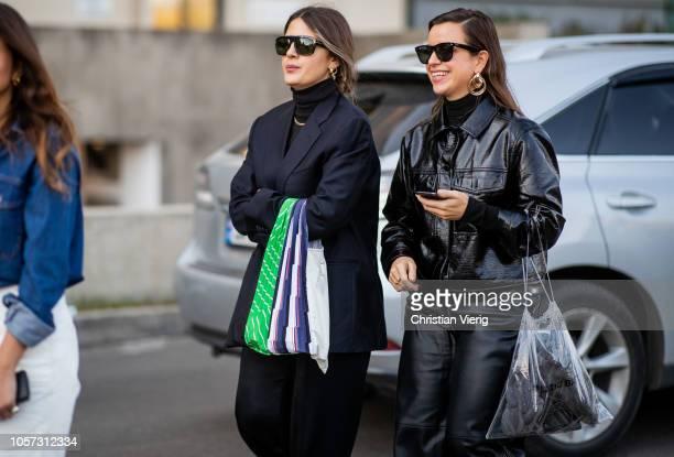 Selenm Ecoglu is seen during MercedesBenz Tbilisi Fashion Week on November 4 2018 in Tbilisi Georgia