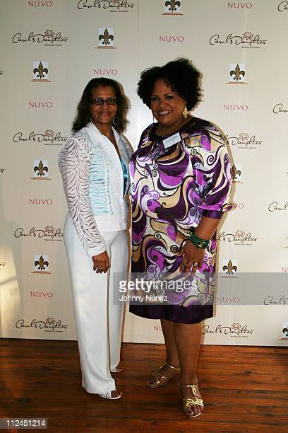 Seletha Smith Nagin and Lisa Price attend the charity shopping event at Carol's Daughter at the 2008 Essence Music Festival on July 3 2008 in New...