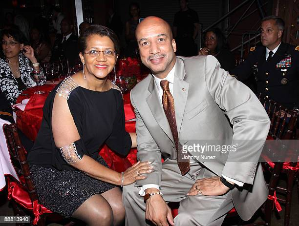 Seletha Smith Nagin and Mayor Ray Nagin attends the Mayor's Essence Music Festival Welcome Party at Generation Hall on July 2 2009 in New Orleans...