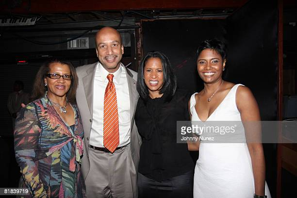 Seletha Smith Nagin Ray Nagin Michelle Ebanks and Angela BurtMurray attend the Mayor's Dinner at Generation Hall on July 3 2008 in New Orleans