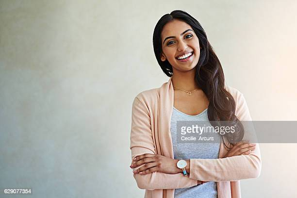 self acceptance goes a long way to being happy - indian woman stock photos and pictures