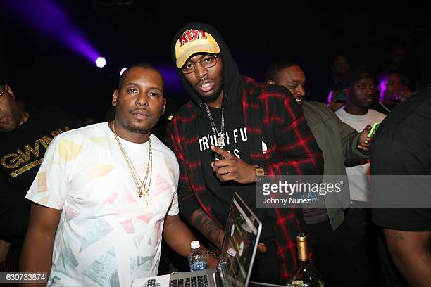 DJ Self and Pardison Fontaine attend the New Year's Eve Preparty With Meek Mill on December 30 2016 in New York City