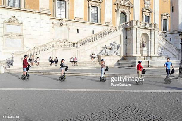 self balancing scooter - segway stock pictures, royalty-free photos & images