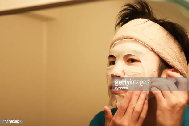 self beauty spa for young man - kyonntra stock pictures, royalty-free photos & images