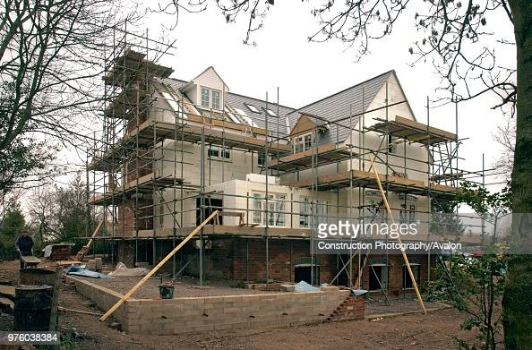Self Build House Surrounded By Scaffolding News Photo Getty Images
