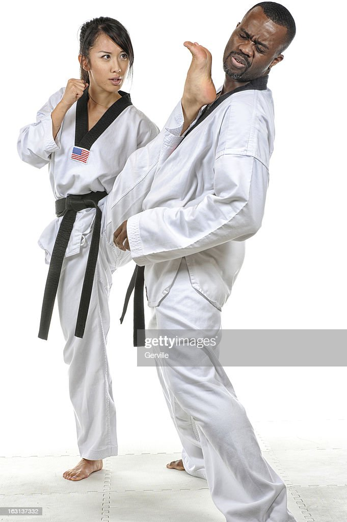 Self defense kick : Stock Photo