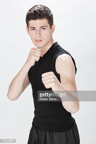 self defense - fighting stance stock pictures, royalty-free photos & images