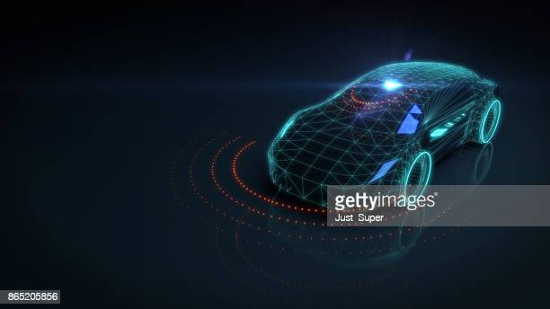 self drive autonomous vehicle - sensor stock pictures, royalty-free photos & images