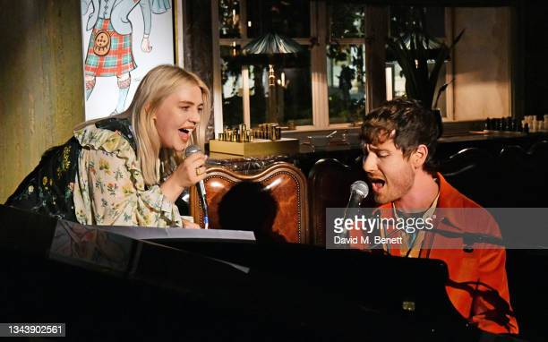 Self Esteem and Dan Smith of Bastille attend the Rolling Stone UK launch at Rosewood London on September 29, 2021 in London, England.