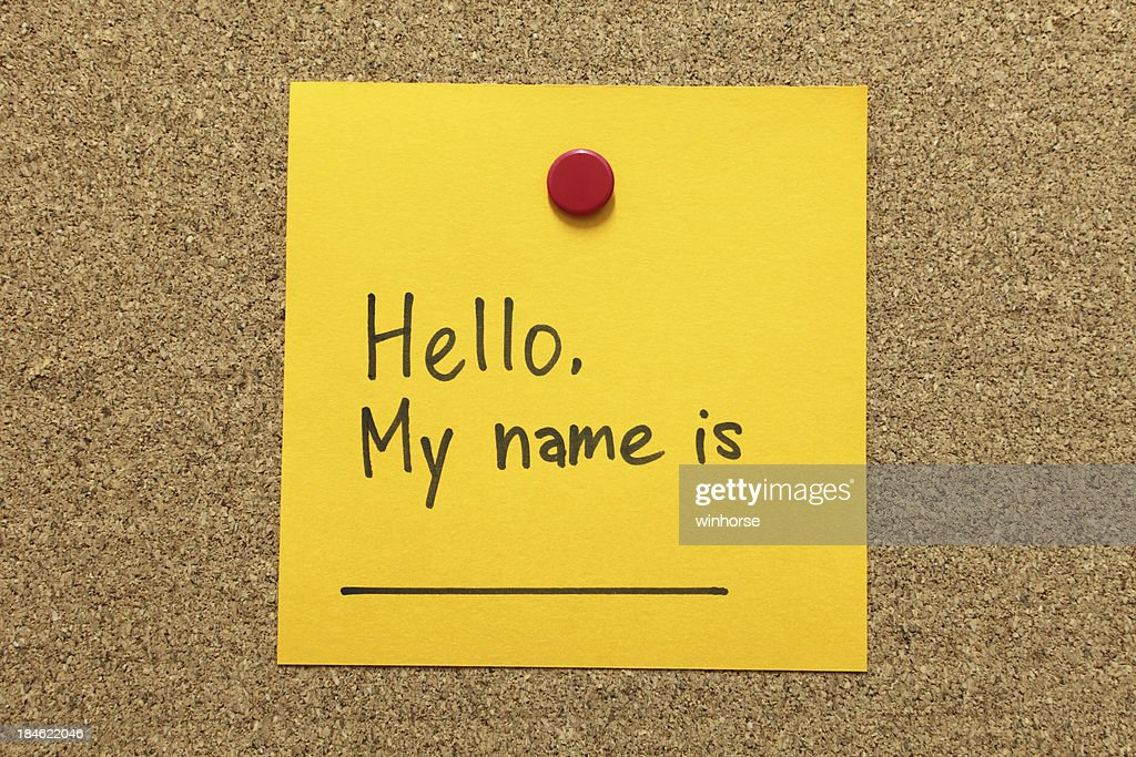 Self Introduction : Stock Photo