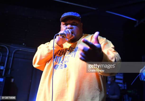 Self Jupiter of Freestyle Fellowship performs at ALAC MUSIC SERIES @ ZEBULON Freestyle Fellowship at Zebulon on January 26 2018 in Los Angeles...
