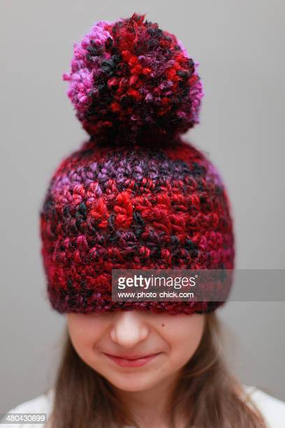 self knitted hat