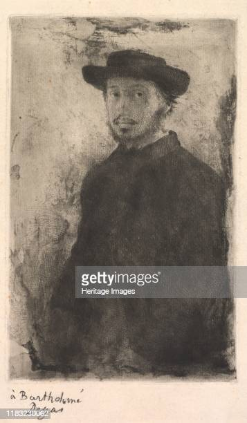 Self Portrait 1857 In the 1850s Degas frequently used himself as a model but he made only one selfportrait in a print medium of which only ten known...