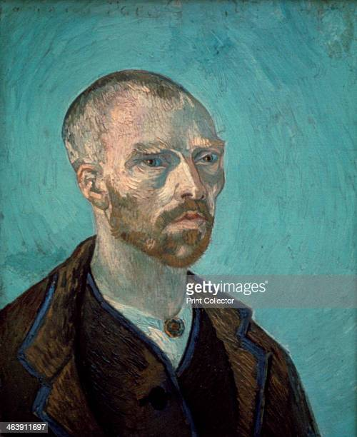 'Self Portrait' 1888 A self portrait of the artist that was dedicated to his friend Paul Gauguin From the collection of the Fogg Art Museum Harvard...